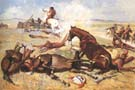 He Rushed the Pny Right to the Barricade 1900 - Frederic Remington