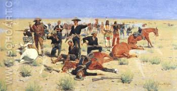 Rounded-Up 1901 - Frederic Remington reproduction oil painting