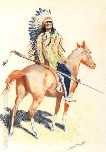 A Sioux Chief 1901 - Frederic Remington reproduction oil painting