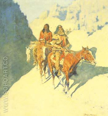 The Unknown Explorers 1908 - Frederic Remington reproduction oil painting