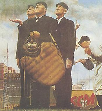 The Umpires - Fred Scraggs reproduction oil painting