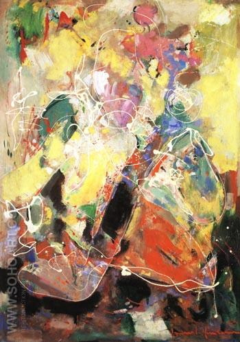 Fantasia, 1943 - Hans Hofmann reproduction oil painting