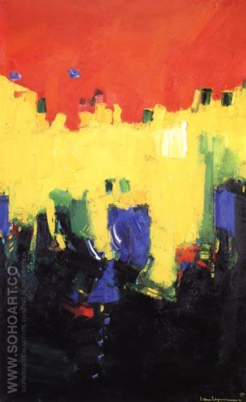 Above Deep Waters, 1959 - Hans Hofmann reproduction oil painting