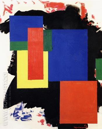 Heraldic Call, 1963 - Hans Hofmann reproduction oil painting