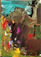 And Out of the Caves the Night Threw a Handful of Pale Tumbling Pigeons into the Light - Hans Hofmann reproduction oil painting