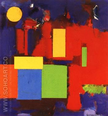 Rising Moon, 1965 - Hans Hofmann reproduction oil painting
