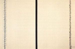 Shining Forth To George 1961 - Barnett Newman reproduction oil painting