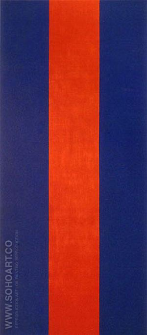 Voice of Fire 1967 - Barnett Newman reproduction oil painting