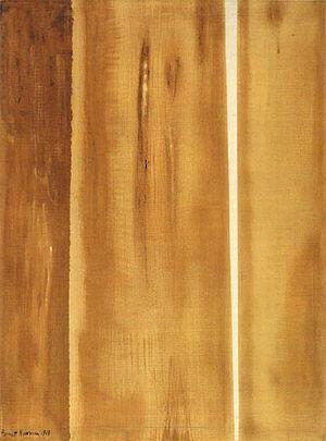 Two Edges 1948 - Barnett Newman reproduction oil painting