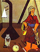 Joan Miro Farmers Wife 1922 - Joan Miro reproduction oil painting