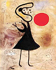 Woman in the Sun 2 - Joan Miro reproduction oil painting