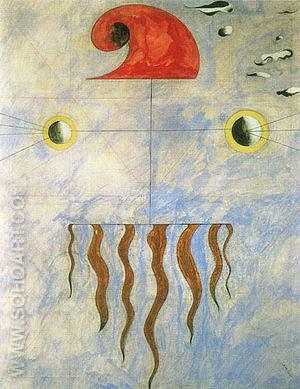 Head of a Catalan Peasant (2) 1925 - Joan Miro reproduction oil painting