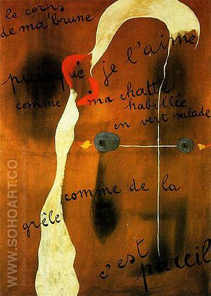 Painting Poem 1925 - Joan Miro reproduction oil painting