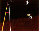 Dog Barking at the Moon 1926 - Joan Miro reproduction oil painting