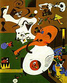 Dutch Interior I 1928 - Joan Miro reproduction oil painting