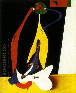 Seated Woman 1932 - Joan Miro reproduction oil painting