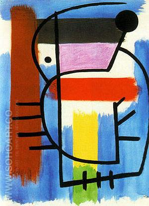 Seated Woman 1931 - Joan Miro reproduction oil painting