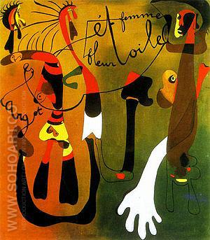 Snail Woman Flower Star 1934 - Joan Miro reproduction oil painting