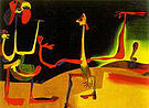 Man and Woman in Front of a Pile of Excrement  1936 - Joan Miro reproduction oil painting
