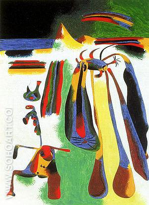 Catalan Peasant Resting 1936 - Joan Miro reproduction oil painting