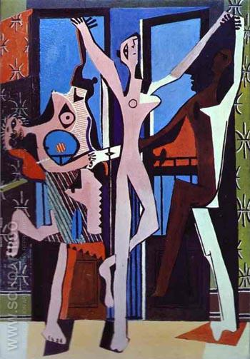 Three Dancers 1925 - Pablo Picasso reproduction oil painting