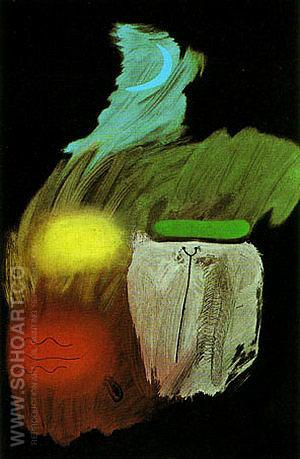 Gouache on Black Paper 1937 - Joan Miro reproduction oil painting