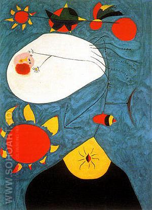 Portrait IV 1938 - Joan Miro reproduction oil painting