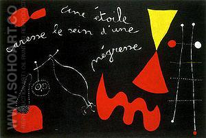 A Star Caresses the Breasts of a Negro Woman 1938 - Joan Miro reproduction oil painting