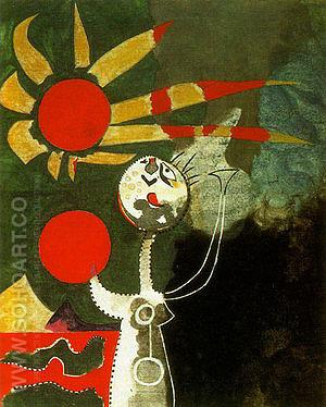 Figure in Front of the Sea 1938 - Joan Miro reproduction oil painting
