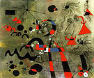 The Escape Ladder 31-1-1940 - Joan Miro reproduction oil painting