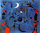 Figure at Night Guided by the Phosphorescent Tracks of Snails 1940 - Joan Miro reproduction oil painting