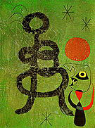 Woman and Bird in Front of the Sun 1944 - Joan Miro reproduction oil painting