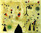 Figures Birds Stars 1-3-1946 - Joan Miro reproduction oil painting