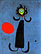 Painting (Woman in Front of the Sun) 1950 - Joan Miro reproduction oil painting