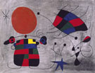 The Smile of the Flamboyant Wings 1953 - Joan Miro reproduction oil painting