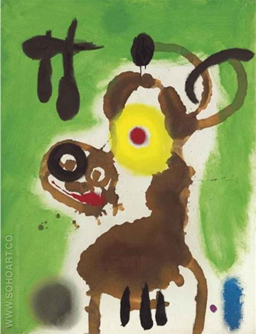 Woman and Bird 1959 - Joan Miro reproduction oil painting
