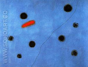Blue I 1961 - Joan Miro reproduction oil painting