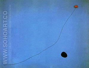 Blue III 1961 - Joan Miro reproduction oil painting