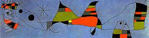 For Emili Fernandez Miro 22-3-1961 - Joan Miro reproduction oil painting