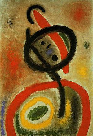 Femme III 2-6-1965 - Joan Miro reproduction oil painting