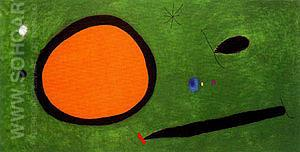 Bird's Flight in Moonlight 3-10-1967 - Joan Miro reproduction oil painting