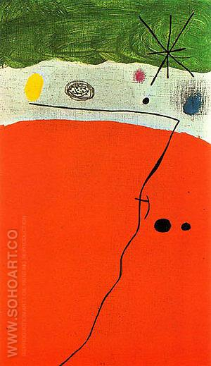 Bird in the Night 23-5-1968 - Joan Miro reproduction oil painting