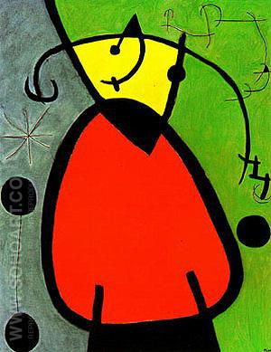 The Birth of Day 26-3-1968 - Joan Miro reproduction oil painting