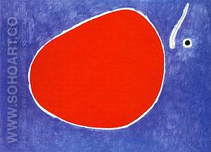 The Flight of the Dragonfly in Front of the Sun 26-1-1968 - Joan Miro reproduction oil painting