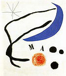 Poem I 17-5-1968 - Joan Miro reproduction oil painting