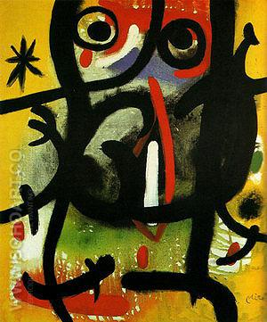 Woman in the Night 26-11-1970 - Joan Miro reproduction oil painting