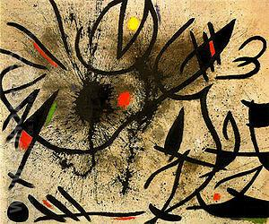 Birds at Daybreak 1970 - Joan Miro reproduction oil painting