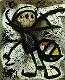 Woman 13-2-1976 - Joan Miro reproduction oil painting
