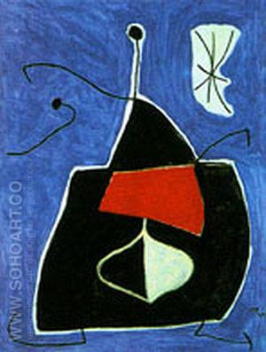 Woman Bird Star 1978 - Joan Miro reproduction oil painting