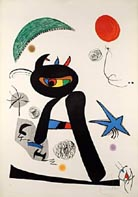 Barbare dans la Neige - Joan Miro reproduction oil painting